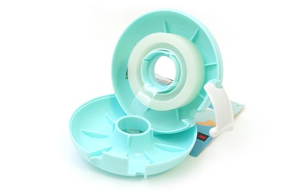 3M Scotch Donut Tape Dispenser - Mint Blue - 12 mm X 11.4 m - 3M 810DN-MI