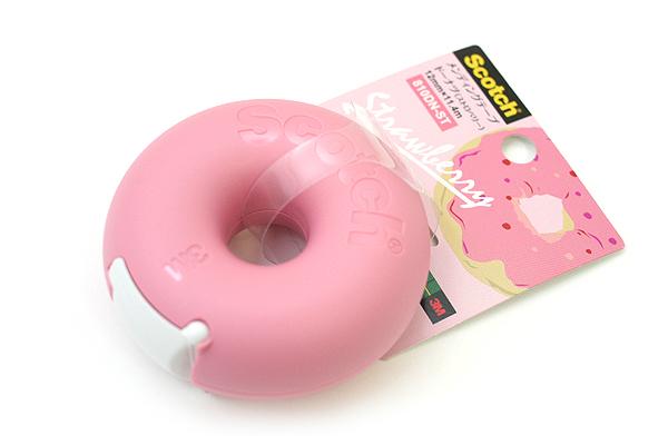3M Scotch Donut Tape Dispenser - Strawberry Pink - 12 mm X 11.4 m - 3M 810DN-ST