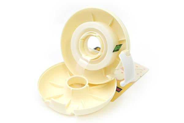 3M Scotch Donut Tape Dispenser - Whip Beige - 12 mm X 11.4 m - 3M 810DN-WH