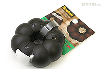3M Scotch Ring Donut Tape Dispenser - Chocolate Brown - 12 mm X 11.4 m - 3M 810RI-CH