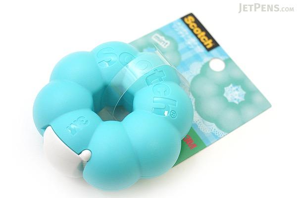 3M Scotch Ring Donut Tape Dispenser - Mint Blue - 12 mm X 11.4 m - 3M 810RI-MI