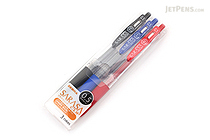 Zebra Sarasa Push Clip Gel Pen - 0.5 mm - 3 Color Set - ZEBRA JJ15-3CA