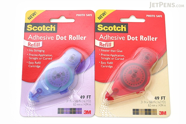 3M Scotch Adhesive Dot Roller Refill - 1/3 in x 49 ft - Red Casing - 3M 6055-R