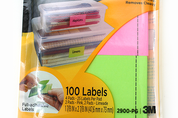 3M Post-It Super Sticky Removable Label Pad - 1 7/8 in x 2 7/8 in - 25 Sheets - Pack of 4 Pads - 3M 2900-PG