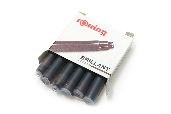 Rotring Brillant Fountain Pen Ink Cartridge - Brown - Pack of 6 - ROTRING 598207