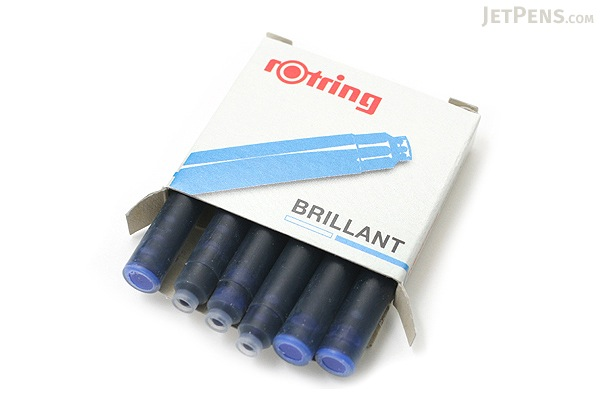 Rotring Brillant Fountain Pen Ink Cartridge - Royal Blue - Pack of 6 - ROTRING 598205