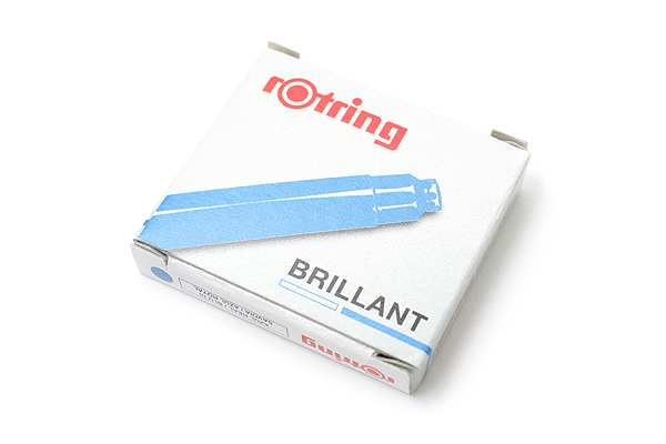 Rotring Brillant Fountain Pen Ink Cartridge - Royal Blue ...