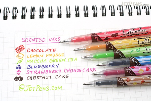 Zebra Laflleche Sweets Scents Gel Ink Pen - 0.7 mm - Strawberry Cheese Cake Scent - Magenta Pink Ink - ZEBRA JJ41-MZ