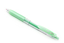 Zebra Sarasa Push Clip Gel Pen - Metallic Colors - 1.0 mm - Shiny Green - ZEBRA JJE15-SG