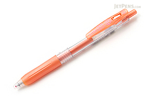 Zebra Sarasa Push Clip Gel Pen - Metallic Colors - 1.0 mm - Shiny Orange - ZEBRA JJE15-SOR