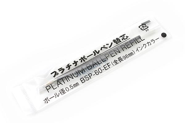 Platinum BSP-60 Ballpoint Pen Refill - 0.5 mm - Black Ink - PLATINUM BSP-60-(EF0.5) 1