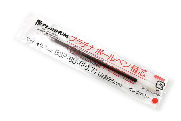 Platinum BSP-60 Ballpoint Pen Refill - 0.7 mm - Red Ink - PLATINUM BSP-60-(F0.7) 2