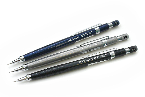 Platinum Pro-Use Original 07 Drafting Pencil - 0.7 mm - Black Body - PLATINUM MSD-300C