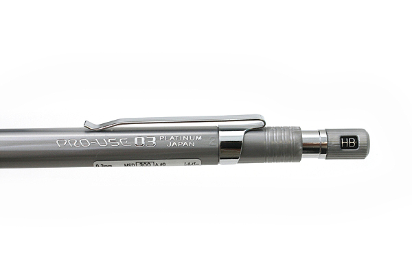Platinum Pro-Use Original 03 Drafting Pencil - 0.3 mm - Silver Body - PLATINUM MSD-300A