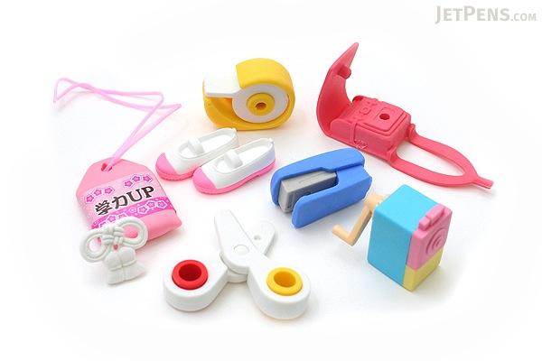 Iwako School Supply Novelty Eraser - 7 Piece Set - IWAKO ER-BRI015