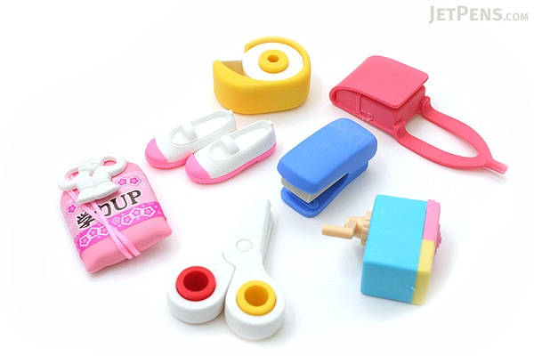 Iwako School Supply Novelty Eraser - 7 Piece Set - IWAKO ER-BRI015