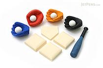 Iwako Baseball Novelty Eraser - 13 Piece - IWAKO ER-BRI016