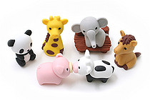 Iwako Zoo Novelty Eraser - 6 Piece Set - IWAKO ER-BRI018