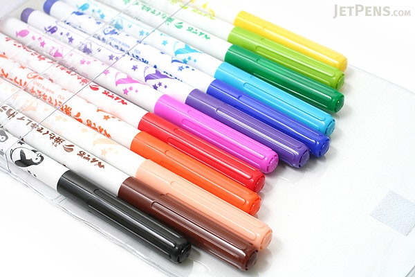 Pentel Washable Ink Color Marker Pen - 12 Color Set - PENTEL SCS2-12