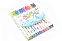 Pentel Washable Ink Color Marker Pen - 12 Color Set - PENTEL SCS2-12