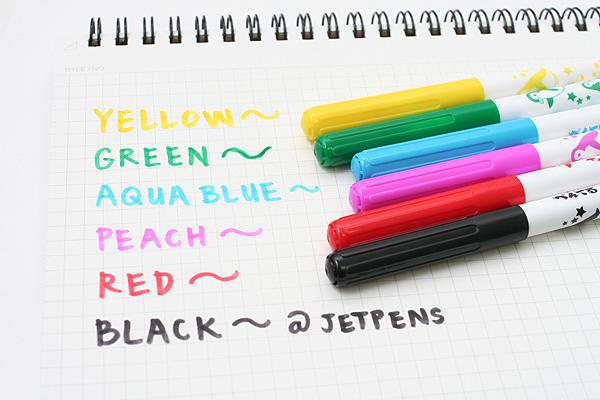 Pentel Washable Ink Color Marker Pen - 6 Color Set - PENTEL SCS2-6