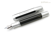 Kaweco AC Sport Carbon Fountain Pen - Silver- Fine Nib - KAWECO 10000143