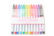 Pilot FriXion Colors Erasable Marker - 12 Color Set - PILOT SFC-120M-12C