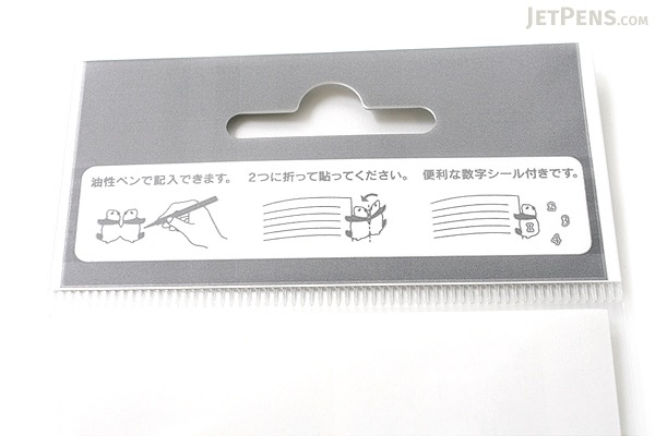 Midori Index Label Sticker - Polar Bear - 2 Sheets - MIDORI 230899