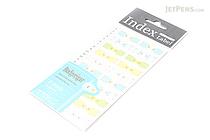 Midori Index Label Sticker - Budgerigar (Parrot) - 2 Sheets - MIDORI 230902