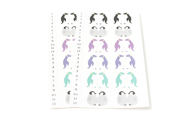 Midori Index Label Sticker - Penguin - 2 Sheets - MIDORI 230900
