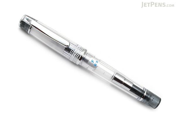 Pilot Prera Clear Body Fountain Pen - Clear Black - Fine Nib - PILOT FPRN35OR-TBF