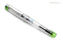 Pilot Prera Clear Body Fountain Pen - Clear Light Green - Fine Nib - PILOT FPRN35OR-TLGF