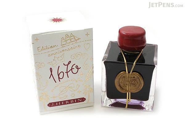 J. Herbin Rouge Hematite Ink - 1670 Anniversary - 50 ml Bottle - J. HERBIN H150/26