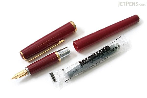 Platinum Standard Fountain Pen - Medium Nib - Red Body - PLATINUM PTL-3000 70-M