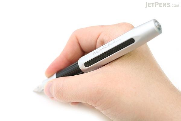 Kaweco AC Sport Carbon Fountain Pen - Silver- Broad Nib - KAWECO 10000142