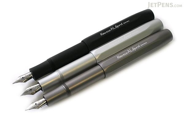 Kaweco AL Sport Fountain Pen - Gray - Medium Nib - KAWECO 10000092