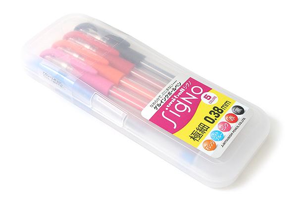 Uni-ball Signo UM-151 Gel Pen - 0.38 mm - 5 Color Set - UNI UM1515C