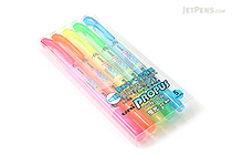 Uni Propus Window Double-Sided Highlighter - 4.0 mm / 0.6 mm - 5 Color Set - UNI PUS102T5C