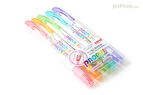 Uni Propus Window Soft Color Double-Sided Highlighter - 4.0 mm / 0.6 mm - 5 Color Set - UNI PUS102T5CS