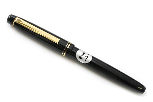Pilot FP-78G Fountain Pen - 22K Gold-Plated Fine Nib - Black - PILOT FP-78G-F-B