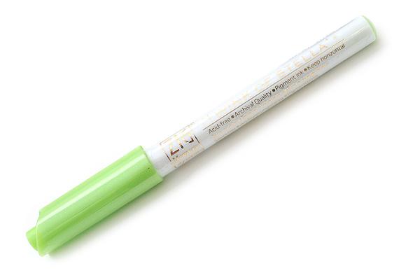 Kuretake Zig Wink of Stella Glitter Marker - 0.8 mm - Light Green - KURETAKE MS-40-041