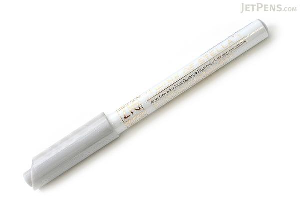 Kuretake Zig Wink of Stella Glitter Marker - 0.8 mm - Silver - KURETAKE MS-40-102