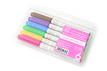 Kuretake Zig Wink of Stella Glitter Marker - 0.8 mm - 6 Color Set - KURETAKE MS-40-6V