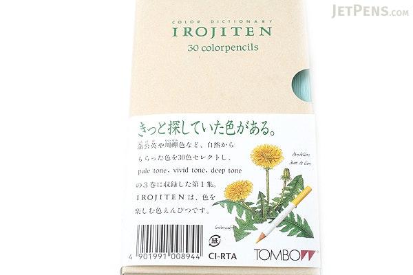 Tombow Irojiten Color Dictionary Color Pencil Set - 30 Color Set (Tones: Pale I + Vivid I & Deep I) - TOMBOW CI-RTA