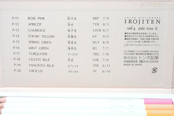 Tombow Irojiten Color Dictionary Color Pencil Set - 30 Color Set (Tones: Pale II + Deep II & Light Grayish I) - TOMBOW CI-RTB