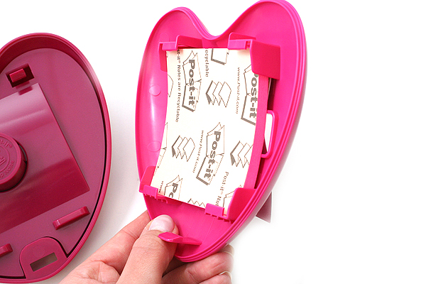 3M Post-It Pop-Up Notes Pink Heart Dispenser - 3 in X 3 in - 50 Sheets - 3M HD-330