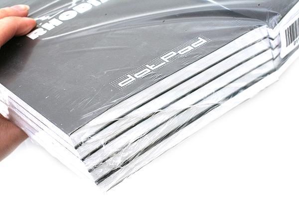 "Rhodia DotPad Notepad - Black - 5.75"" X 8.25"" - 80 Sheets - 5 mm Dot Grid - Bundle of 10 - RHODIA 16559 BUNDLE"