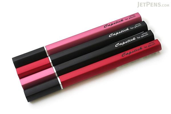 Ohto Capstick Cap-Knock Needle Point Ballpoint Pen - 0.5 mm - Black Cap / Pink Body - OHTO NBP-680CS-BP