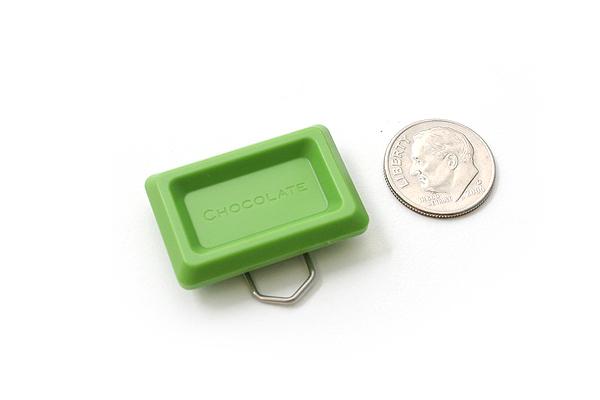 Ohto Chocolate Bar Cross Paper Clip - Maccha Green - Pack of 6 - OHTO CCC-420MACCHA