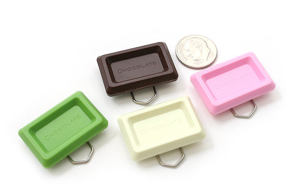 Ohto Chocolate Bar Cross Paper Clip - Mix - Pack of 6 - OHTO CCC-420MIX